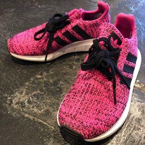 Adidas lightbrite hot pink sneakers. Size 13 kids